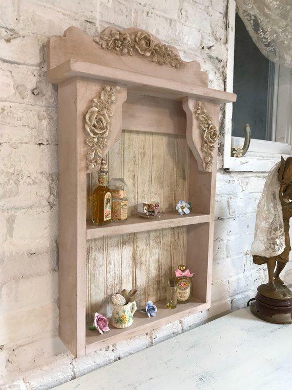 Painted Cottage Prairie Chic Hand Made Shabby Chic Shelf Etsy