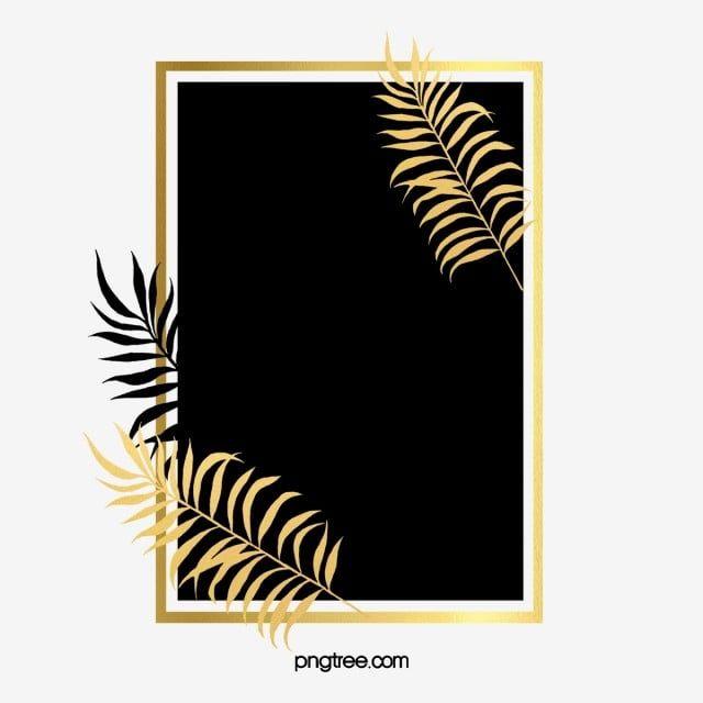 Black Gold Plant Leaves Border Gold Leaf Black Golden Plant Png Transparent Clipart Image And Psd File For Free Download Gold Border Design Leaf Border Leaf Clipart