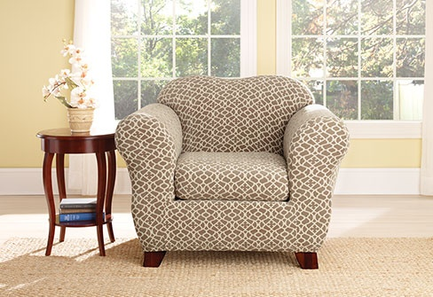 Sure fit slipcovers stretch ironworks separate seat - Housse de coussin 65 65 ...