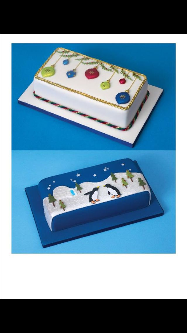 Rectangle Christmas cakes
