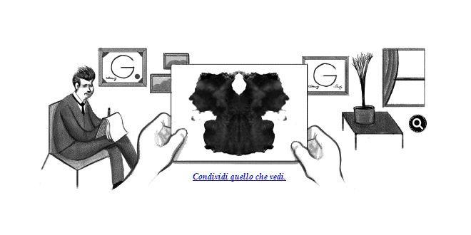 Nel #doodle di #Google oggi troviamo il Test di Hermann Rorschach