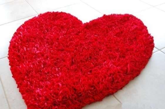 Tappeti per il bagno moderni e originali - Tappeto per il bagno a forma di cuore