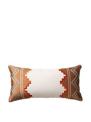 50% OFF Echo Beacon's Paisley Oblong Pillow, White