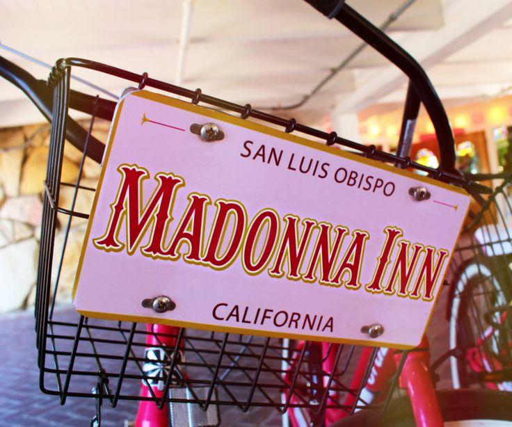 Explore beautiful downtown San Luis Obispo on a hot pink Madonna Inn beach cruiser!