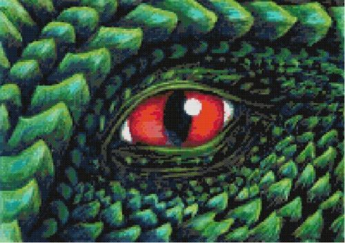 Dragon's Eye 2 Cross Stitch Pattern | eBay