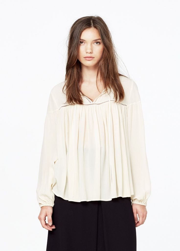 Openwork detail blouse -  Woman | MANGO South Africa