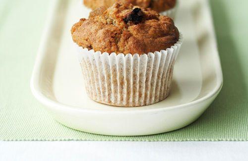 Warm muesli muffins