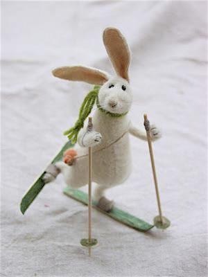 Handmade stuffed animals, dolls, and other works by toy-maker Natasha Fadeeva