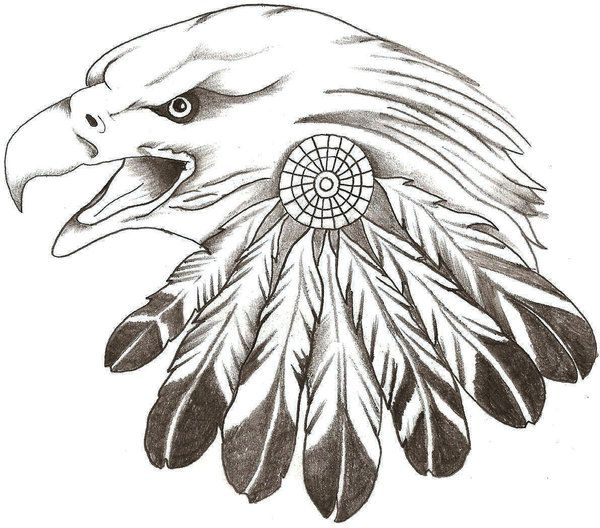 Free Deer Print Wood-Burning Patterns | Eagle feathers by TheLob
