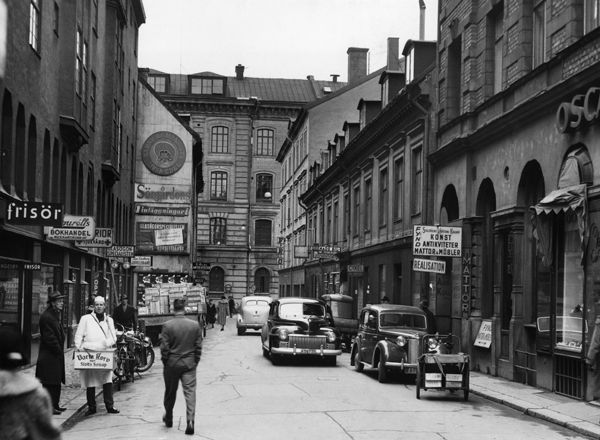 Beridarebansgatan -1954. Foto: Lennart af Petersens/Stockholm
