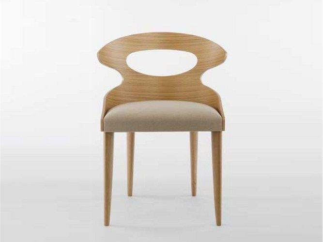 Download the catalogue and request prices of Paddle   chair by Potocco, oak chair design Mauro Lipparini, Paddle collection