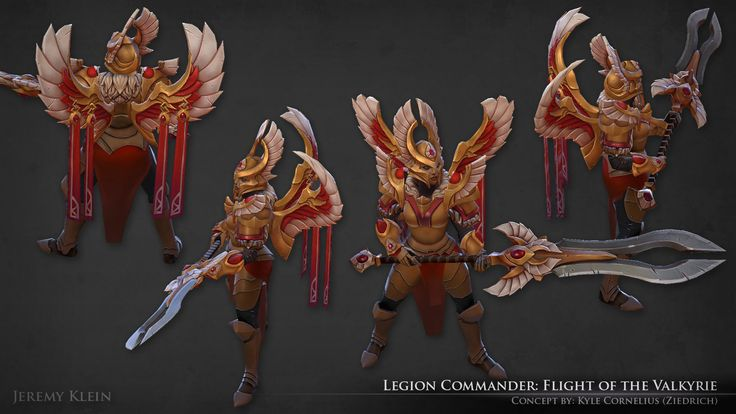 ArtStation - Legion Commander: Flight of the Valkyrie, Jeremy Klein