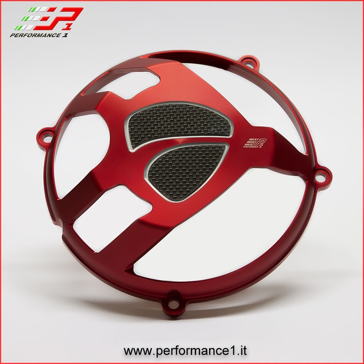 Cover clutch - Ducati - Red version - Logo carbon
