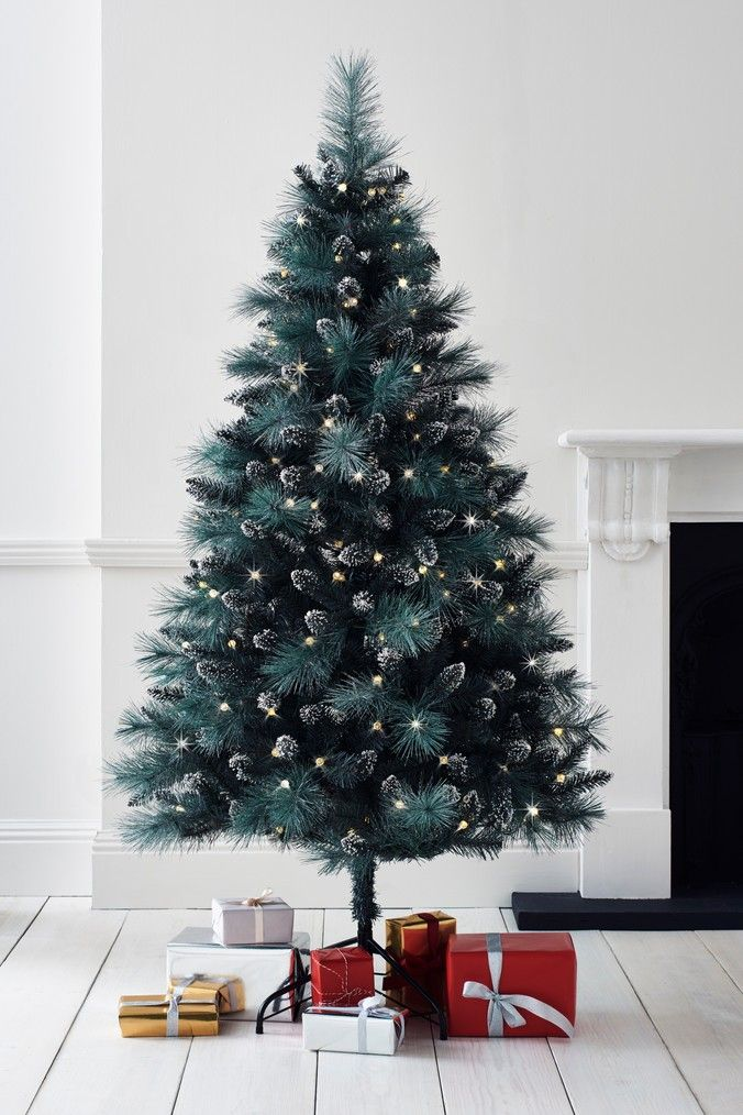 200 Bulb Frosted 6ft Christmas Tree Christmas Tree Silver