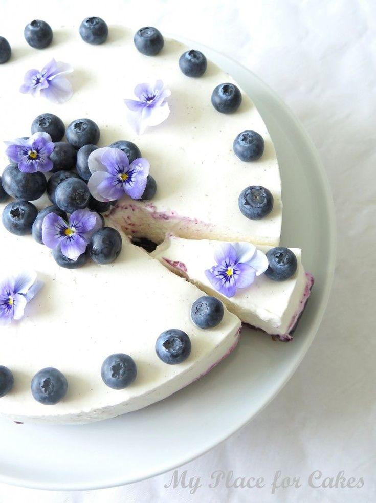 Bastognekage med skyr og blåbær #Cheesecake