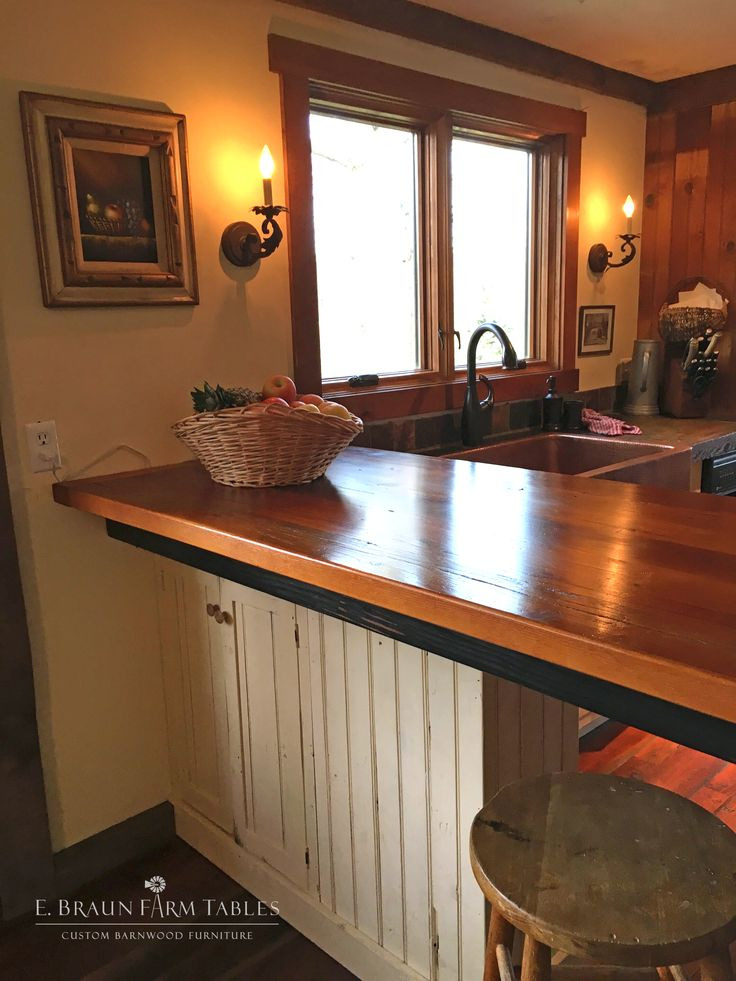 (KitchenT, pic 9 of 14) Using reclaimed wood from dismantled barns, our