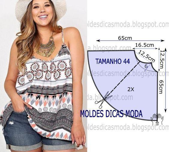 Moldes para hacer blusas de verano para dama05