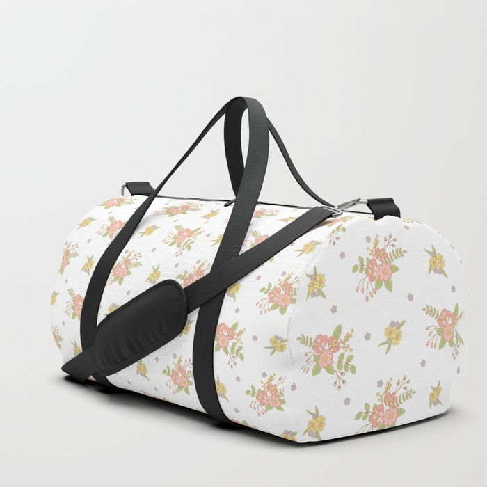 We upped the Duffle Bag game. Your new favorite gym and travel bags feature crisp printed designs on durable poly poplin canvas. Constructed with premium details for ultimate comfort. Available in three sizes.    #peach #blossom #fresh #Kids #baby #Flowers #Floral #Springtime #Pastels #Flowery #bloom #botanical #garden #Mia #society6 #Duffle #Bag