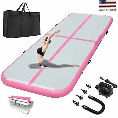10ft Inflatable Air Track Floor Indoor Gymnastics Tumbling Mat Gym With Pump Bag In 2020 Gymnastics Tumbling Mat Gym Mats Gymnastics