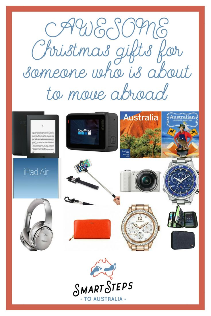 Christmas gift guide for families who are emigrating to Australia. Full of practical and stylish travel gifts, useful gadgets and tasty treats for people who are moving to Australia.