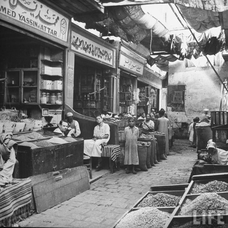 Streets of Cairo, by Life Magazine, circa 1940's