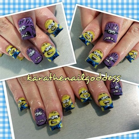 despicable me 2 minions by thenailgoddess - Nail Art Gallery nailartgallery.nailsmag.com by Nails Magazine www.nailsmag.com #nailart