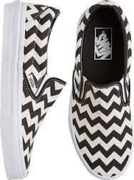 Description:    A chevron print canvas upper is built a-top a vulcanized waffle sole, while the easy to-use slip on design makes these shoes an instant favorite.  •Slip on shoes for women.•Black and White chevron print canvas upper.•Durable vulcanized rubber outsole.•Vans logo at back.•Vans classic waffle tread for grip.•Elastic tongue slits for easy slip-on and off.•Lightly padded leather lined collar for comfort.•Imported.•Note: Sizes shown are in Women's. For men's, go up 1.5…