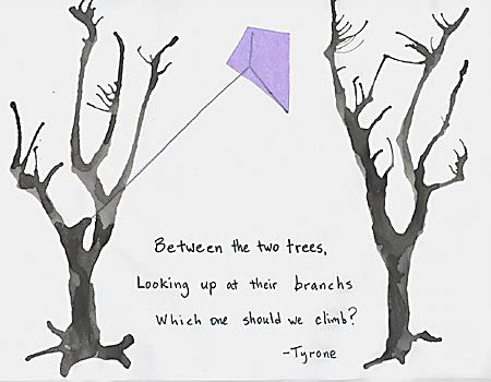 Haiku Poems Examples | Between the two trees,