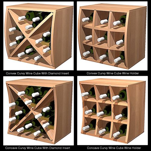 Incomparable Style Thanks To WCI Curvy Cubes! - the cubes provide flexible bottle storage as well, both in individual and bulk options.
