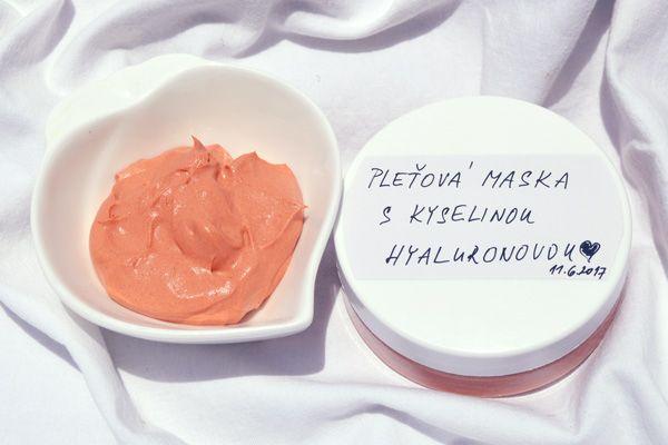 Pleťová maska s kyselinou hyaluronovou #výrobakosmetiky, #domácíkosmetika, #jakvyrobitmaskuskyselinouhyaluronovou