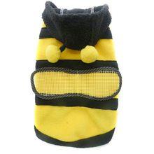 Nuovo cane domestico del gatto sveglio fleece bumble bee bella ali costume abbigliamento abbigliamento coat(China (Mainland))