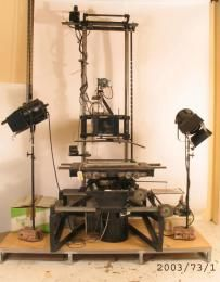 2003/73/1 Animation rostrum, camera and lighting equipment, metal / plastic/ paper, rostrum designed and made by Jack Kennedy and Jim Lynich, 1930-1964 - Powerhouse Museum Collection
