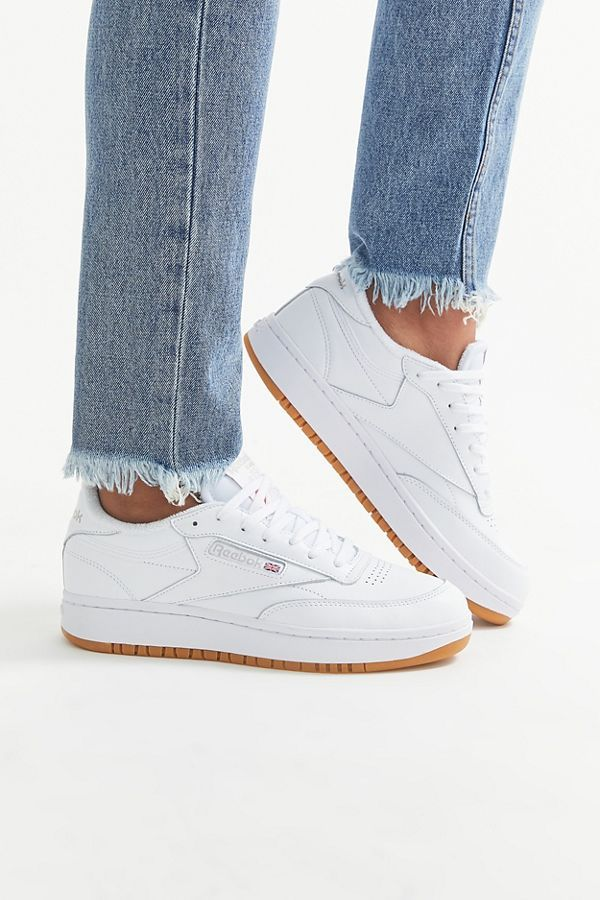 Reebok Uo Exclusive Club C Double Sneaker In 2020 Sneaker Outfits Women Womens Sneakers Reebok White Sneakers