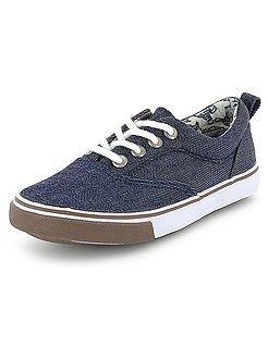 Zapatos, zapatillas - Zapatillas deportivas de tela vaquera - Kiabi