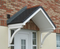 Door canopy from UK.  Very simple construction?