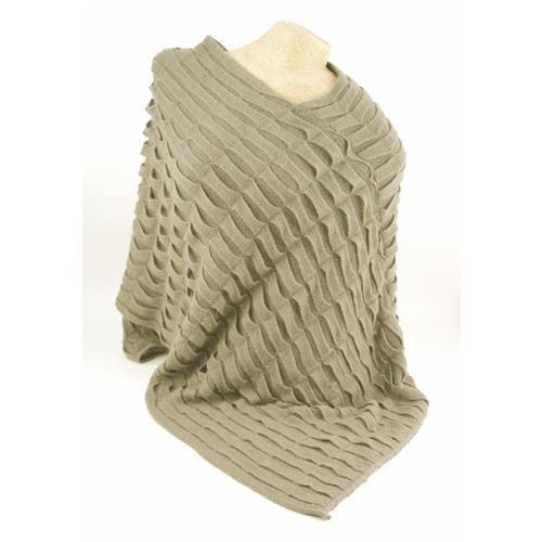 MANTELLA MIRA BEIGE  -  Mantella in maglia fantasia.  Composizione: 100% Acrilico Dimensioni: Taglia unica - Lunghezza cm 100