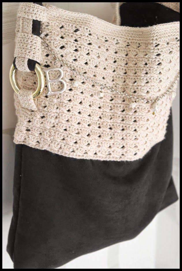 Camillas livsstil: Mönster till virkad väska med korsade stolpar