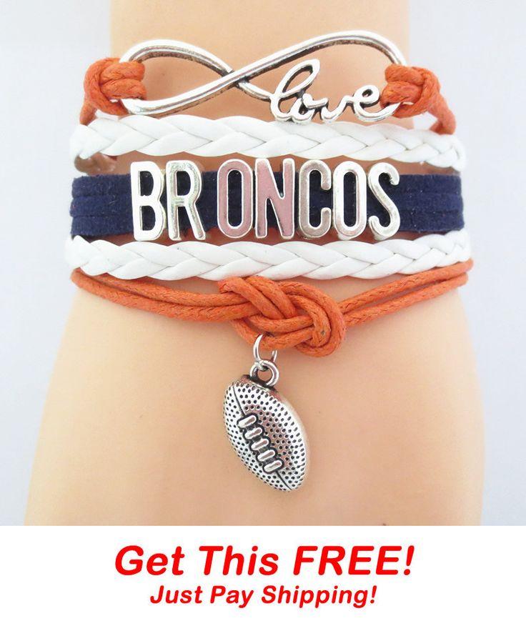 Infinity Love Denver Broncos Football Bracelet - FREE + Shipping Event!