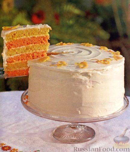 Фото к рецепту: Цитрусовый торт праздничный