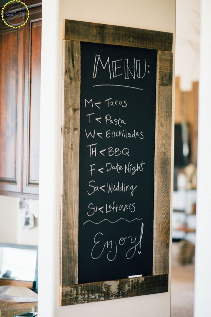 Great Chalkboard Kitchen Menu Diy