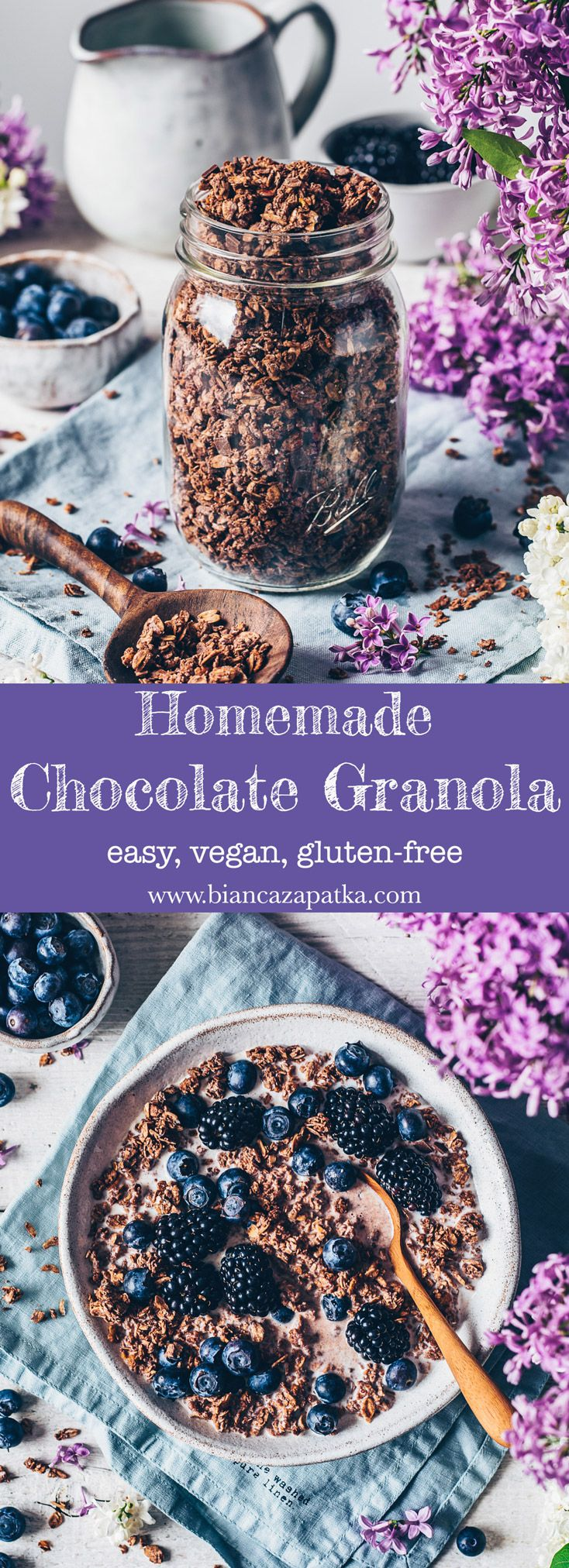 Chocolate Granola Recipe – easy, vegan, Homemade
