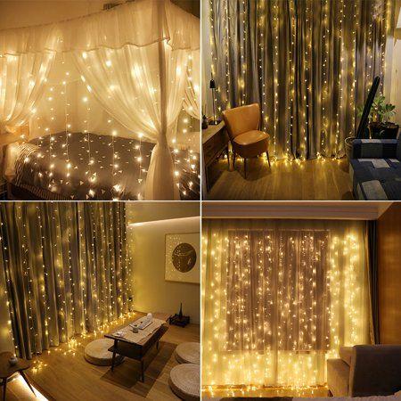 Led Curtain Lights 3M*6M 8 Light Models 600LED Window ...