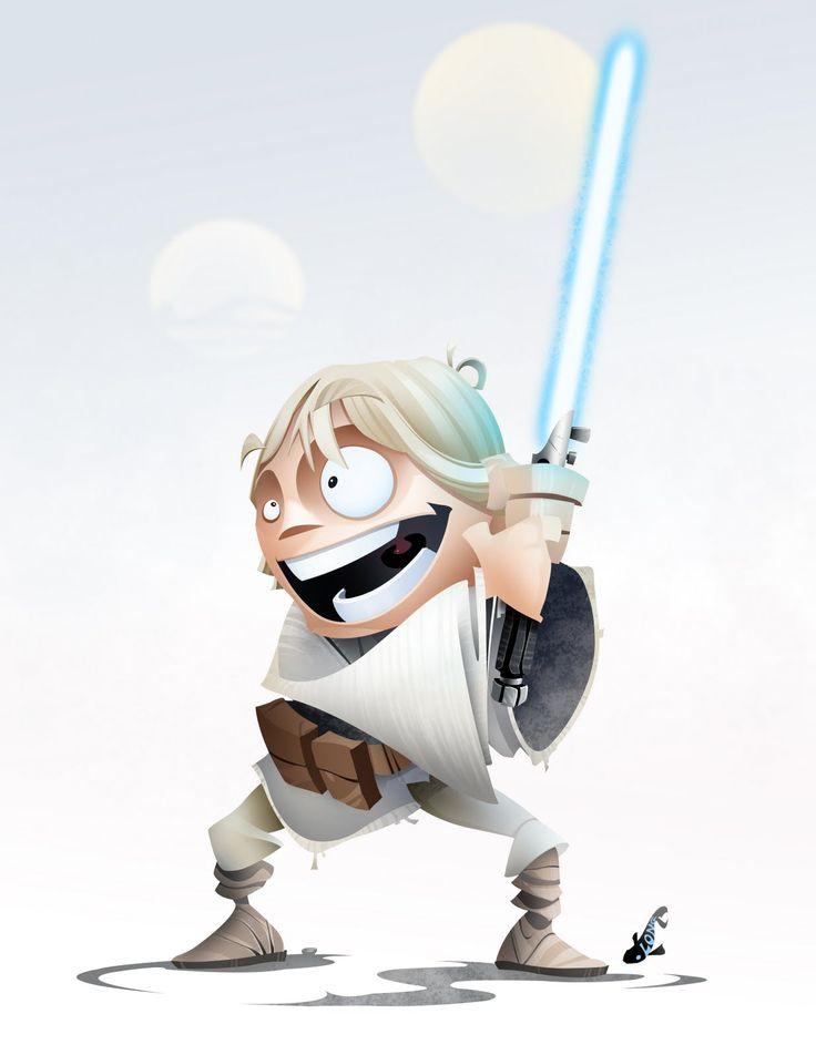 Very Cool STAR WARS HEROES Character Art luke