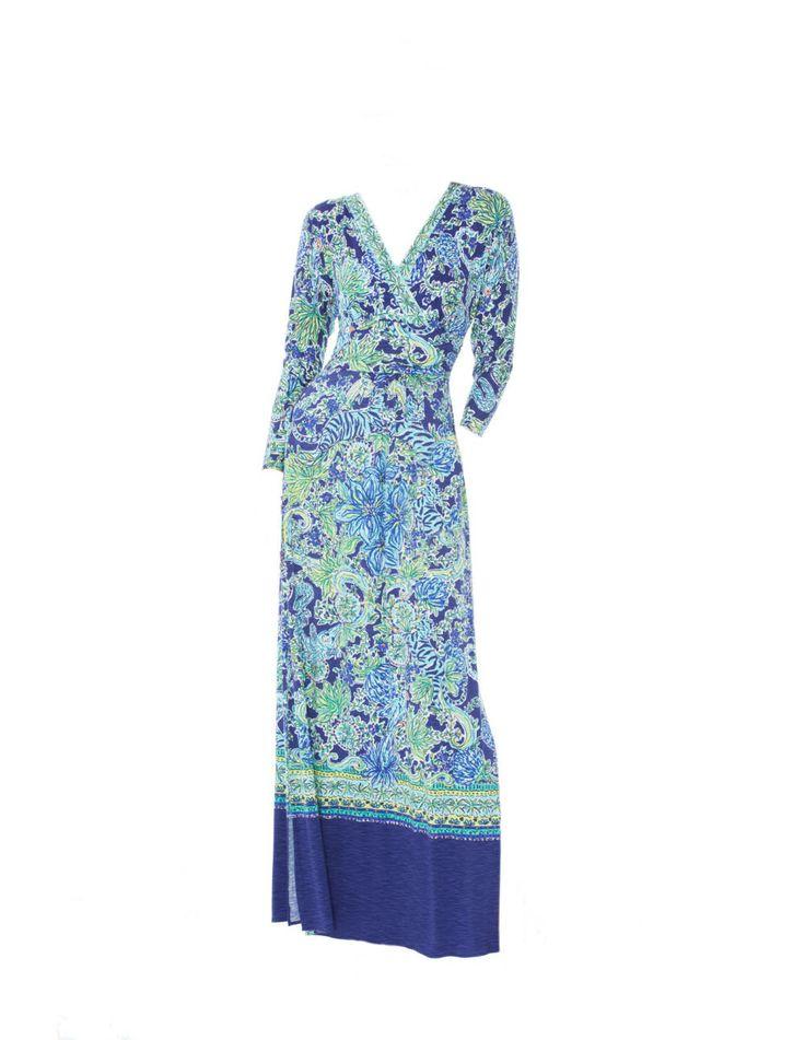 Lilly Pulitzer wrap dress.
