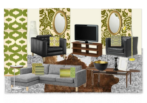 Apartment living room design - colour alternative.