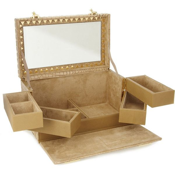 Eddie Borgo Croc-effect leather jewelry box found on Polyvore