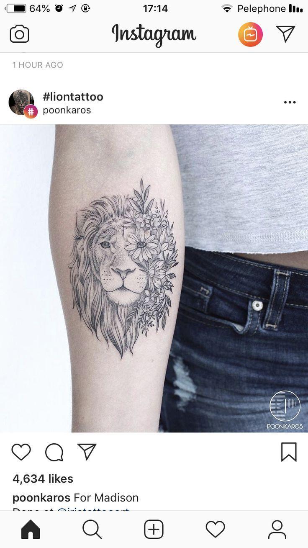 smalltattoos Tattoos, Nature tattoos, Small lion