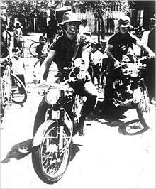 Errol Flynns son Sean Flynn (left) and Dana Stone (right) , riding motorcycles into Communist-held territory in Cambodia on April 6, 1970. Both disappeared. Sean was officially pronounced dead in 1984.