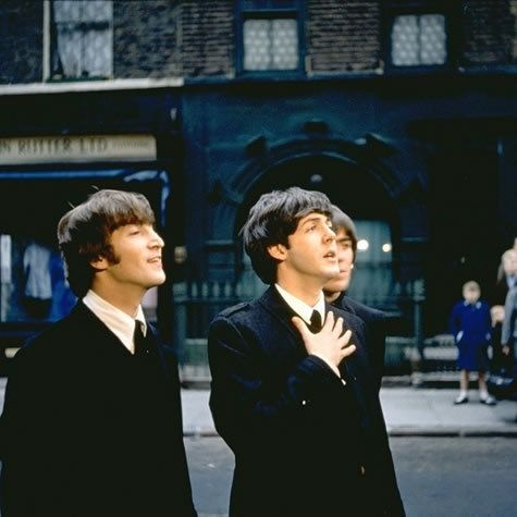 Beatles John Lennon, Paul McCartney and George Harrison circa 1964/65