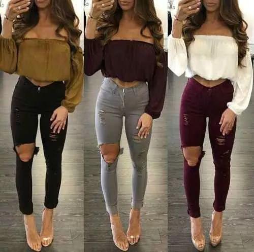 blusas manga larga,